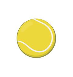 Icon yellow tennis ball in cartoon style vector