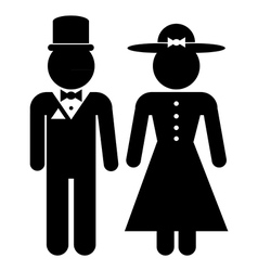 Icons men and women in retro style vector