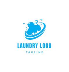 Laundry logo creative logo clothes logo proses vector