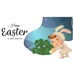 little girl or boy hunting decorative chocolate vector image