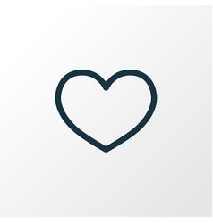 love outline symbol premium quality isolated heat vector image
