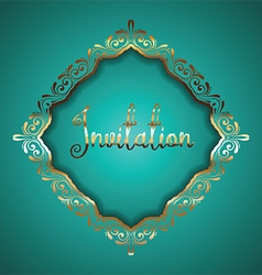 Luxurious frame vector image