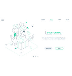 only for you - line design style isometric web vector image