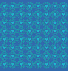ornament love pattern blue vector image