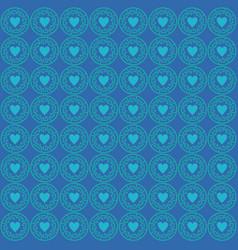ornament love pattern blue vector image
