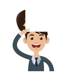 person open head vector image