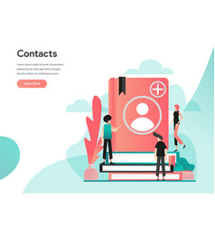 phone contacts concept modern flat design vector image