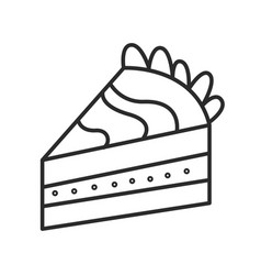 piece cake doodle hand drawn line vector image