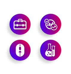 Portfolio statistics and swipe up icons set vector