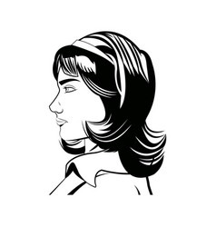 portrait woman beauty character comic style vector image