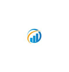 round business finance graph progress logo vector image