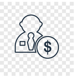 Salary concept linear icon isolated on vector