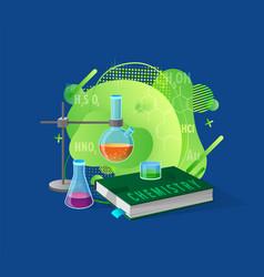 scientific equipment and liquid chemistry vector image