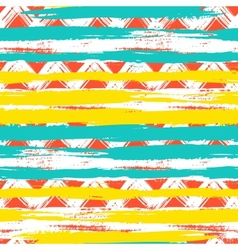 Seamless ethnic zigzag pattern with bold vector