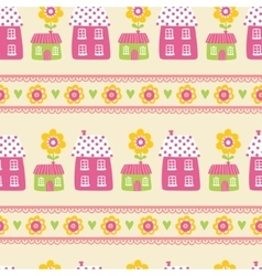 Seamless of houses vector