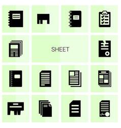 Sheet icons vector