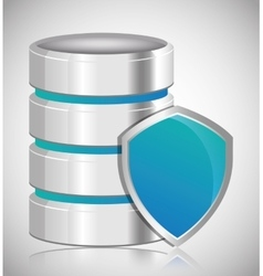 Shield Data center web hosting graphic vector