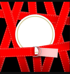 Silhouette of round frame bound belts vector