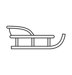 Sled icon in outline style vector
