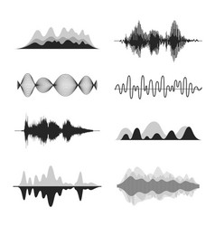 Sound waves frequency audio waveform music wave vector