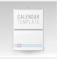 spiral calendar blank office calendar mock vector image