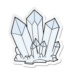 Sticker of a cartoon crystals vector