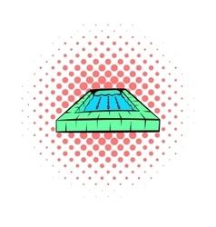 Swimming pool icon comics style vector image