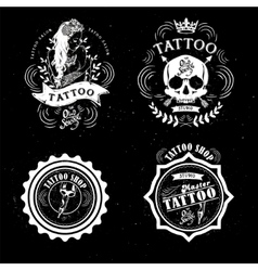 Tattoo old school studio skull vector image