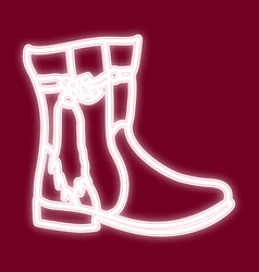 the image of a female boot vector image