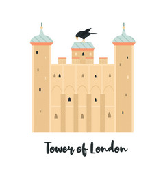 tower london famous fortress landmark vector image