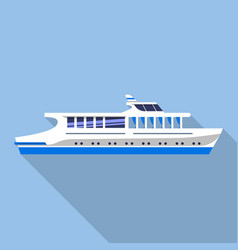 travel river ship icon flat style vector image
