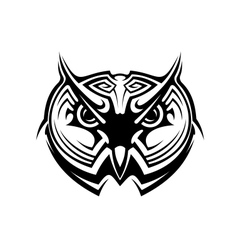 Tribal owl tattoo vector