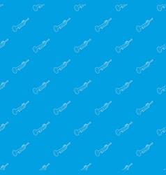 Trumpet pattern seamless blue vector