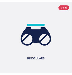 Two color binoculars icon from army concept vector