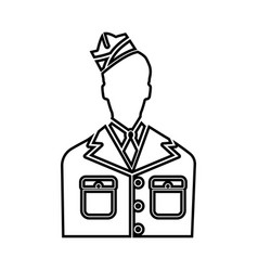 Veteran or soldier of the american army icon vector