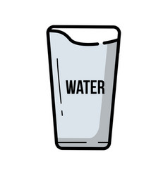 vintage glass of water vector image