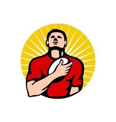 Vintage rugby logo vector