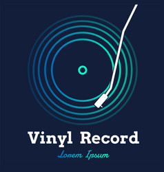 vinyl record music with dark background graphic vector image