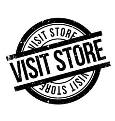 Visit store rubber stamp vector