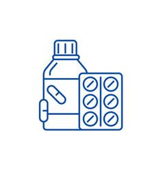 vitamins line icon concept vitamins flat vector image