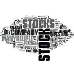 Why buy stock text word cloud concept vector
