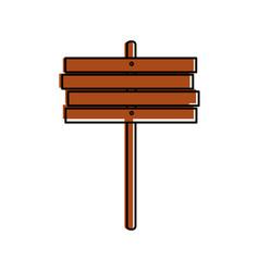 Wooden board rustic autumn vector