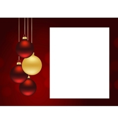 xmas red template vector image