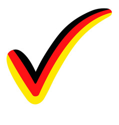 check mark style germany flag symbol vector image
