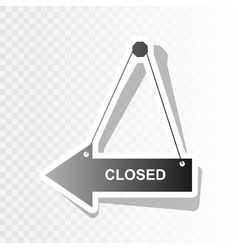 closed sign new year vector image vector image