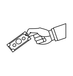 hand business man holding banknote money image vector image vector image