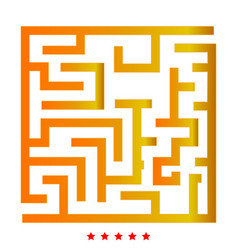 labyrinth maze conundrum icon flat style vector image