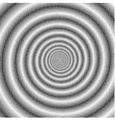 psychedelic spiral halftone effect vector image vector image