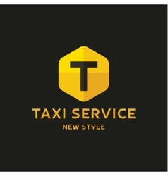 Taxi Service Logos sign Abstract geometrical vector image vector image