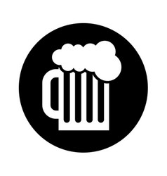 beer in jar isolated icon vector image vector image